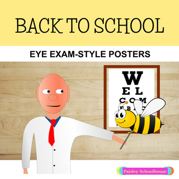 Back-To-School Eye Exam-Style Posters