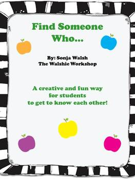 Back To School - Find Someone Who Activity (The Walshie Workshop)