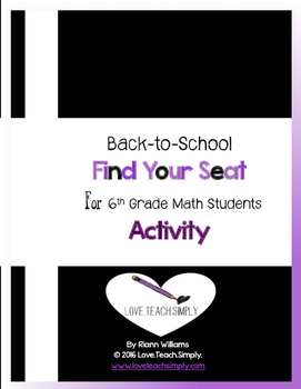 Back To School Seat Finder Cards