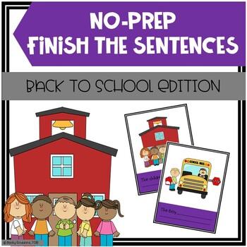 Back To School Finish The Sentences No-Prep Activity