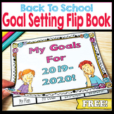 Back To School First Day Activity – Goal Setting Flip Book