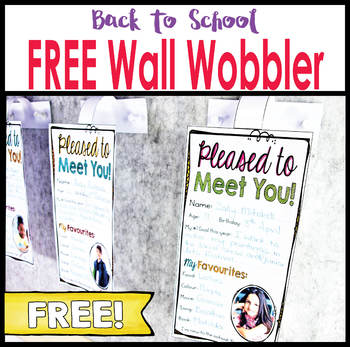 Back To School First Day Activity – Wall Wobbler