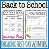 Back To School! First Day Scavenger Hunt & Get to Know The Teacher Activity