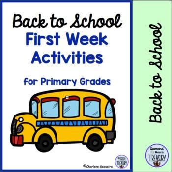 Back To School First Week Activities