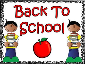 Back To School: First Week of School