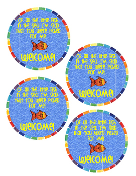 Back To School Fish Tags
