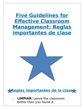Poster - Back To School: Five Classroom Guidelines for Str
