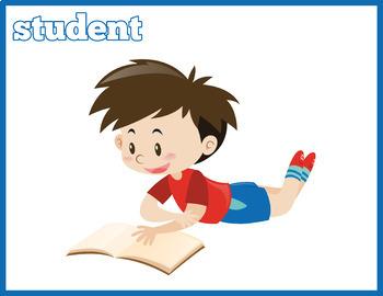 Back To School Flash Cards Instant Download PDF; Preschool, Kindergarten, School