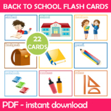 Back To School Flash Cards; Kindergarten; Preschool; Homes