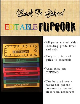 Back To School Flip Book Template