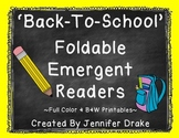 Back To School Foldable Early Emergent Readers ~Set of 3~ *Color & B&W*