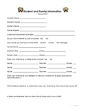 Back To School Forms - Open House Packet