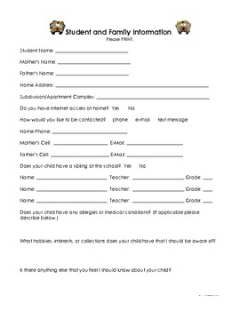 Back To School Forms - Open House Packet by Modern Magical Classroom