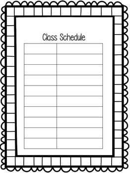 Back To School Forms and Scavenger Hunt