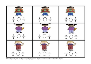 Back To School Fractions Unit - 3rd Grade Common Core