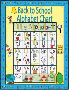 Free Back To School  Alphabet Chart