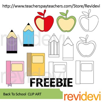 Back To School Free Clip art by revidevi