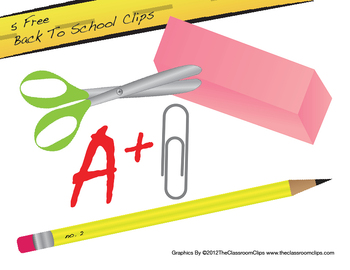 Back To School Freebie Clipart Pack
