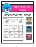 Back To School Freebie - Connecting With Friends
