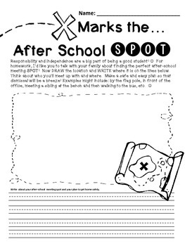 Back To School Freebie-Homework to Help Create a Safe Dismissal