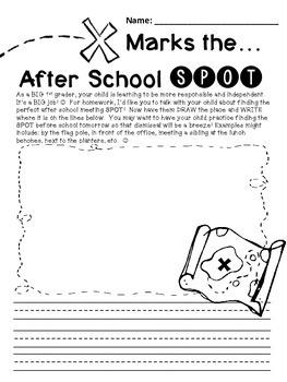 Back To School Freebie-Homework to Help Create a Safe Dismissal