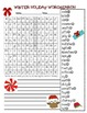 Free Holiday Winter Word Search