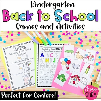 Back To School Centers and Games for Kindergarten