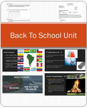 Back To School Geography Unit!