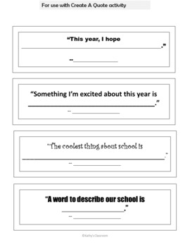 Back To School Activities * Get To Know You Icebreakers, 2nd-6th, Ready to Print
