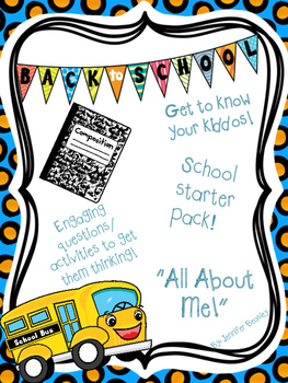 Back To School--Get To Know You Packet