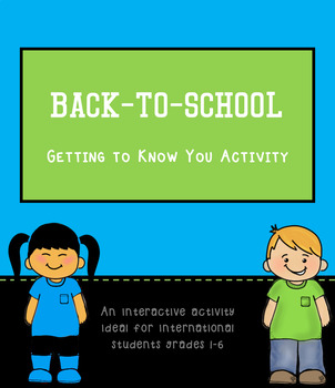 """Back To School """"Getting To Know You"""" Activity"""