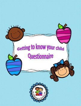 Back To School - Getting to know your child