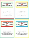 Back To School Gift - Bag Labels