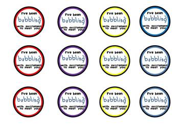 Back To School Gift {bubble labels}