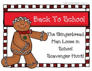 Gingerbread Man Scavenger Hunt