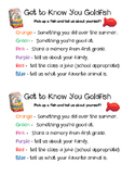Back To School Goldfish Get To Know You Activity