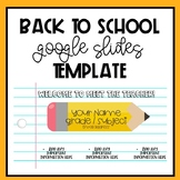 Back To School Google Slides Template
