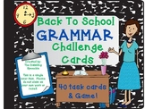 Back To School Grammar Cards Full Set