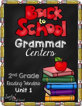 Back To School Grammar Centers - Grade 2 - Common Core Aligned