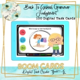 Back To School Grammar Judgement BOOM Cards – Speech Therapy Distance Learning