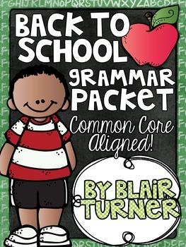 Back To School Grammar Packet