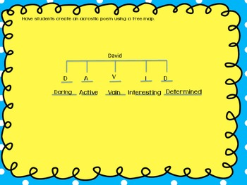 Back To School - Graphic Organizers
