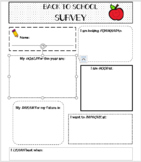 Back To School- Growth Mindset Student Survey (editable)