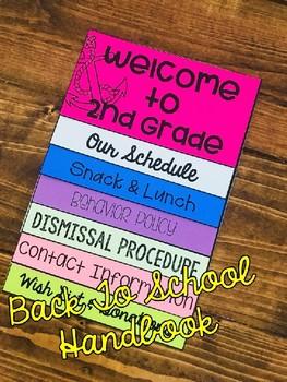 Back To School Handbook (editable)