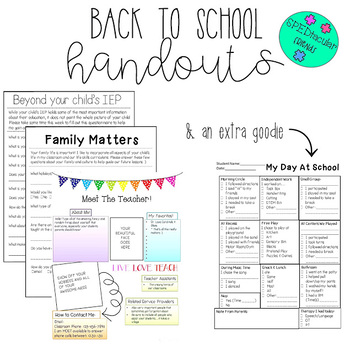 Back To School Handouts