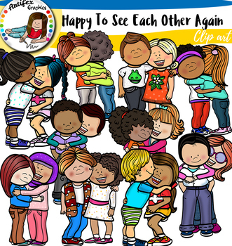 Back To School, Happy To See Each Other Again- clip art