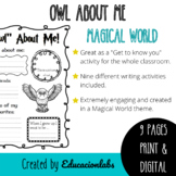 """Back To School Harry Potter Themed """"Owl about me"""" in English"""