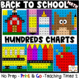 Back To School Hundreds Charts | MATH CENTERS | MATH REVIEW
