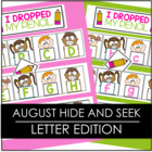Back To School  Hide and Seek - August Letter Edition