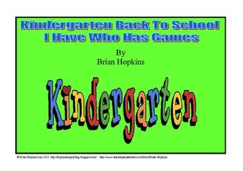 Back To School I Have Who Has Kindergarten Games (5 games)